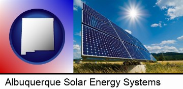 solar energy panels with photovoltaic cells in Albuquerque, NM