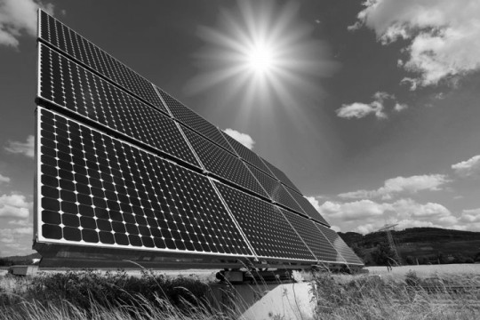 solar energy panels with photovoltaic cells